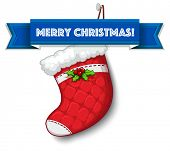 Merry Christmas with empty stocking
