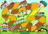 Schools kids theme board game