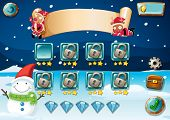 picture of christmas theme  - Christmas game theme with elements - JPG