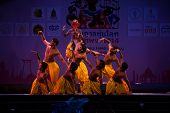 India Harmony Dance In Opening Ceremony In Harmony World Puppet Carnival In Bangkok,Thailand 2014.