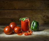 Vegetables And Tomato Juice