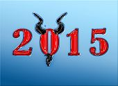 pic of goatee  - 2015 Trendy look year of the goat with horns and goatee - JPG