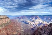 Amazing View Of Grand Canyon In The Very Early Morning