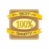Retro vector best quality label