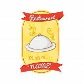 Retro vector restaurant label