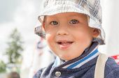 Young Caucasian boy wearing a hat
