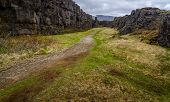 A Path In Pingvellir National Park, Iceland
