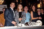 LOS ANGELES - NOV 14:  David Boreanaz, Emily Deschanel at the