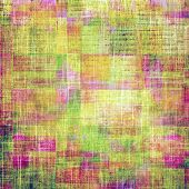 Grunge, vintage old background. With different color patterns: yellow; green; orange; purple (violet); pink