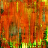 Rough vintage texture. With different color patterns: green; orange; red; yellow