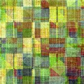 Grunge texture, Vintage background. With different color patterns: blue; green; orange; brown; yellow