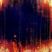 Aged grunge texture. With different color patterns: black; orange; red; yellow