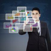 Businessman And Modern Graph