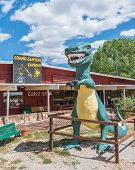 Route 66: Grand Canyon Caverns And Tyrannosaurus Rex (t-rex) Statue, Peach Springs, AZ