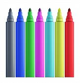 Set Of Colored Felt-tip Pens.