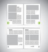 Layout magazine, vector eps10