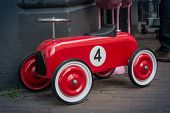 Red Toy Race Car Number Four