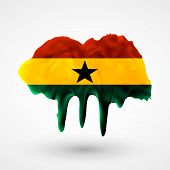 Flag of Ghana painted colors
