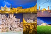 Photo collage from Rome, Italy