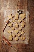 Freshly baked gingerbread cookies