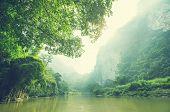 Serenity river in Vietnam