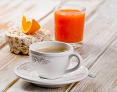 Coffee Cup And Orange Juice