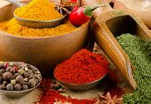 Colourful  Ground Spices
