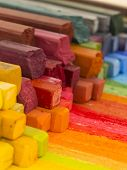 colorful artistic crayons,