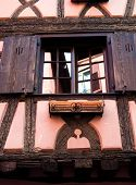 Pink / Orange Timber Frame House In Alsace