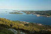 Korcula in the Adriatic sea in Croatia