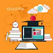 picture of online education  - Set icons for education - JPG