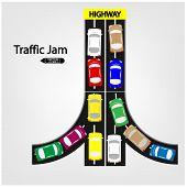 traffic jam symbol, transportation symbol