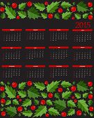 New Year 2015  Calendar Vector Illustration