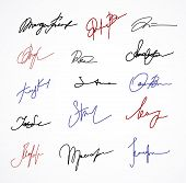 Vector Signature fictitious Autograph on white