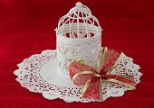 Retro Christmas Lantern With A Large Bow