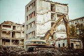 Demolition of the old building