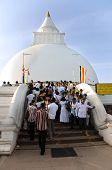 Kataragama, Sri Lanka - May 05:  Saga Dawa Festival  To Celebrate In  Kiri Vehera Stupa, Kataragama