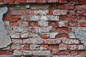 The Wall Of The Old Brick House .