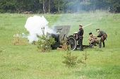 Soldiers Shooting Of Cannon Sample 1902-1930