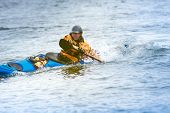 Kayaker In Action