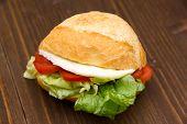 Sandwich on wood