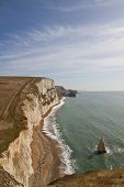 View Down The Dorset Coastline