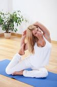 Woman In Advanced Yoga Position