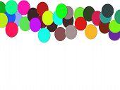 White texture, colored balls