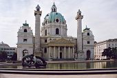Karlskirche church in Vienna, Austria.