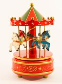 Red Merry-go-round Horse Carillon
