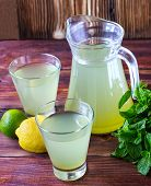 Cold Drink With Mint