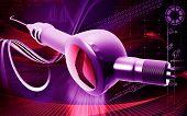 pic of dental impression  - Digital illustration of Micro motor dental polisher   in colour background - JPG