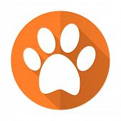picture of flat-foot  - foot orange flat icon   - JPG