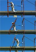 foto of scaffold  - Safety at work - JPG